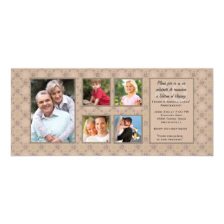 Anniversary Multi Photo Invitation