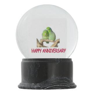 Anniversary Parrotlets Snow Globe