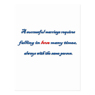 Anniversary Quote - A successful marriage requir … Postcard
