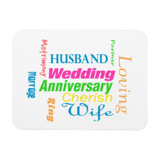 Anniversary Word Cloud 1 Magnet