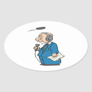 Announcer Oval Sticker