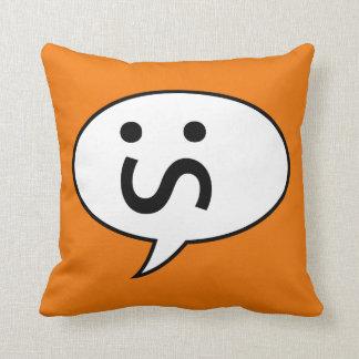 Annoyed Face Emoticon Cushion