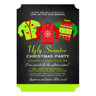 Annual Ugly Sweater Christmas Party Invitation