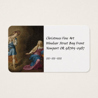 Annunciation Angel and Mary Business Card