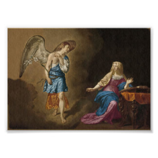 Annunciation Angel and Mary Photo Print