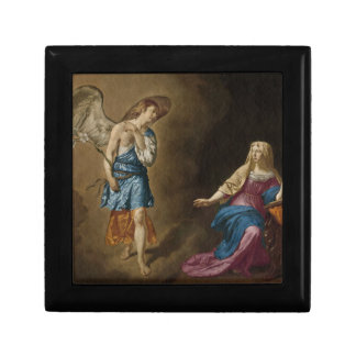 Annunciation Angel and Virgin Mary Small Square Gift Box