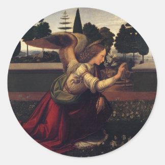Annunciation - Angel Classic Round Sticker