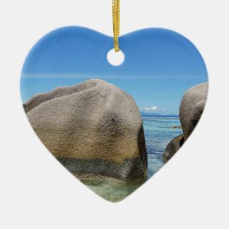 anse source d'argent ceramic heart decoration