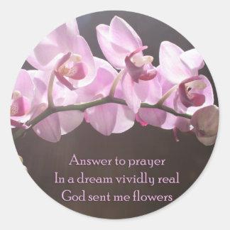 Answer To Prayer Round Sticker