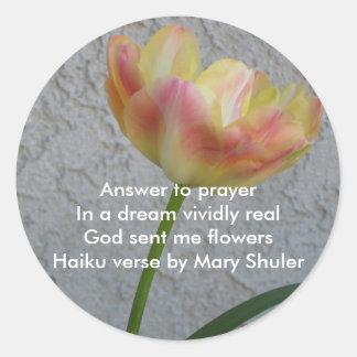 Answer to prayer sticker