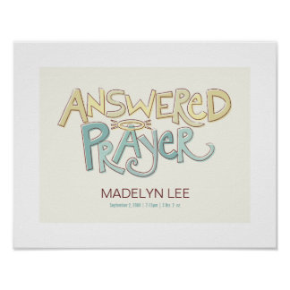 Answered Prayer Nursery Art Print