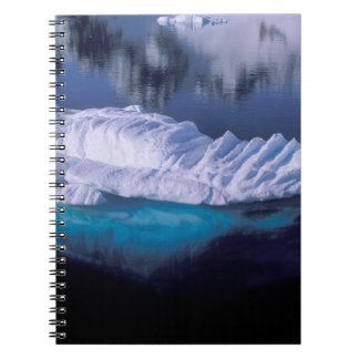 Antarctica, Paradise Bay. Iceberg in crystal Spiral Note Book
