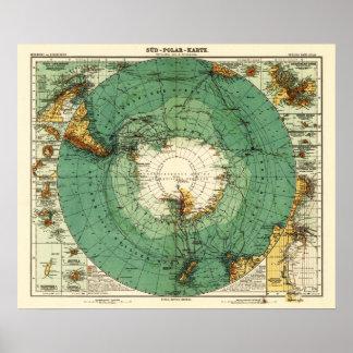 AntarcticaPanoramic MapAntarctica Poster