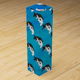 Anteater on Blue Wine Gift Box