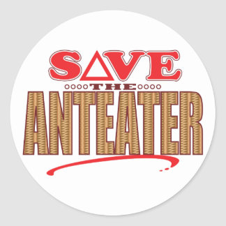 Anteater Save Classic Round Sticker
