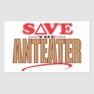 Anteater Save Rectangular Sticker