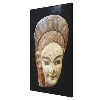 Antefix with a female head, from Cerveteri Canvas Print