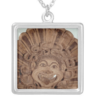 Antefix with the head of a gorgon silver plated necklace