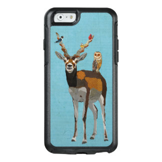 ANTELOPE, FEATHERS & OWL BLUE OtterBox iPhone 6/6S CASE