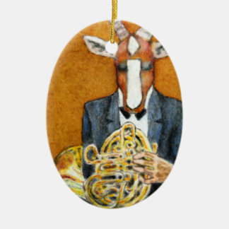 Antelope French Horn Player Ornament