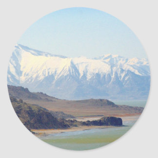 Antelope Island on the Great Salt Lake Classic Round Sticker
