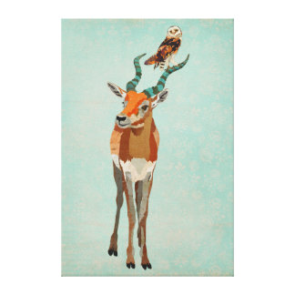 Antelope & Owl Canvas