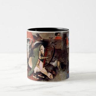 Anthony Altar -Temptation of St. Anthony, detail 7 Two-Tone Coffee Mug