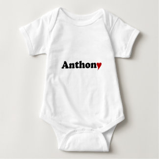 Anthony with Heart Baby Bodysuit