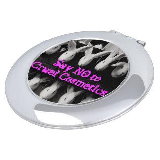 Anti Animal Testing Cruelty Free Compact Mirror