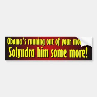 Anti Barack Obama Solyndra Bumper Sticker