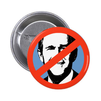 ANTI-BUSH - ANTI-George W Bush 6 Cm Round Badge