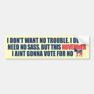 Anti Democrat Anti Obama Bumper Sticker