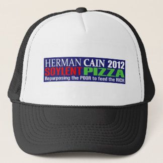 Anti Herman Cain 2012 President SOYLENT Design Trucker Hat