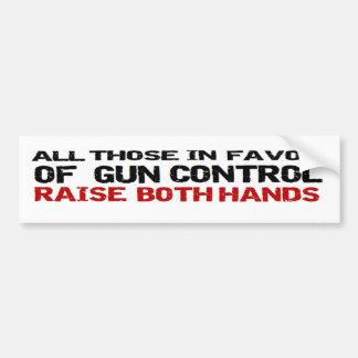 Anti Obama Anti Gun Control Political 'both hands' Bumper Sticker