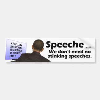 Anti Obama Speeches Bumper Sticker