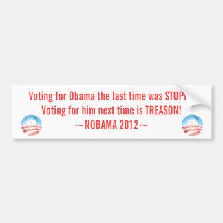 Anti Obama Sticker, NOBAMA 2012, Bumper Sticker