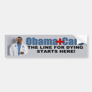 Anti ObamaCare Car Bumper Sticker