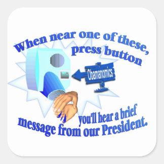 Anti Obamanomics – Obamanomics is Hurting America! Square Sticker