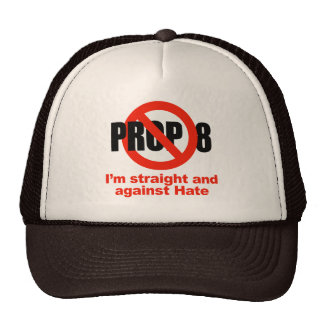 ANTI PROP 8 - Straight against Hate Hat