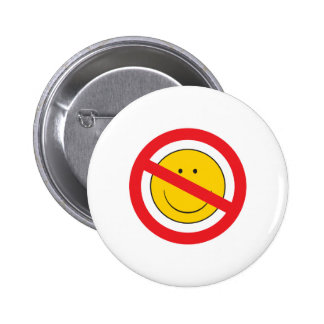 Anti-Smiley SMiley Face 6 Cm Round Badge