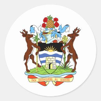 Antigua And Barbuda Coat Of Arms Classic Round Sticker
