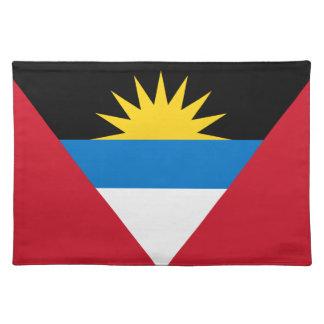 Antigua and Barbuda Flag American MoJo Placemat