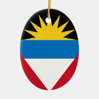Antigua and Barbuda Flag Christmas Ornament