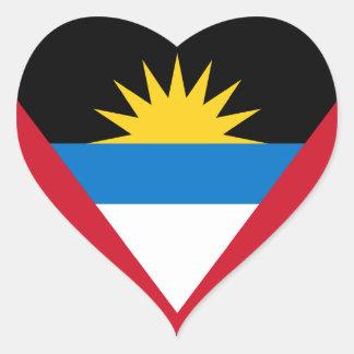 Antigua and Barbuda Flag Heart Sticker
