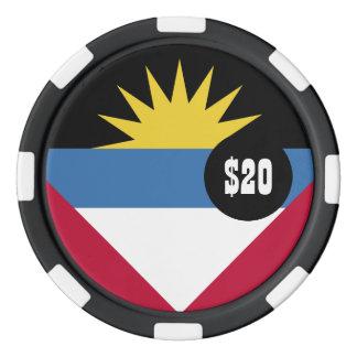 Antigua and Barbuda Flag Poker Chips