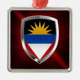 Antigua and Barbuda Mettalic Emblem Christmas Ornament