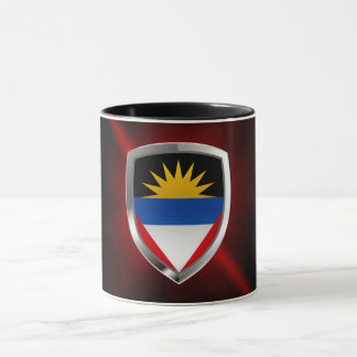 Antigua and Barbuda Mettalic Emblem Mug