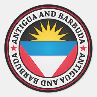 Antigua And Barbuda Round Emblem Classic Round Sticker