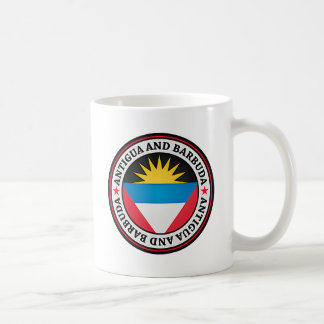 Antigua And Barbuda Round Emblem Coffee Mug