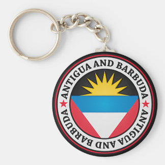 Antigua And Barbuda Round Emblem Key Ring